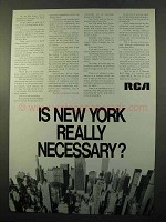1970 RCA Research Ad - Is New York Really Necessary?
