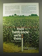 1970 Columbia Gas System Ad - Hardly Know We're There