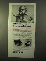 1970 Hitachi Cassette Tape Player Ad - TRQ-206, TRQ-280