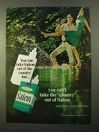 1970 Salem Cigarettes Ad - Can Take Out of the Country