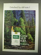 1970 Kool Cigarettes Ad - Disturbed by Dull Taste?