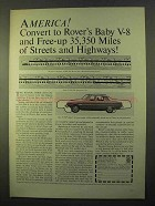 1970 Rover 3500S Car Ad - Free-up 35,350 Miles