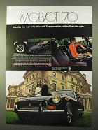 1970 MG MGB/GT Ad - It's Like The Man Who Drives It