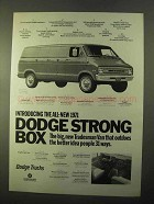 1971 Dodge Tradesman Van Ad - Strong Box