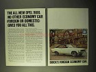 1970 Buick Opel 1900 Ad - No Other Economy Car