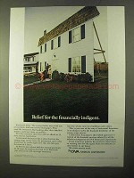 1970 CNA Financial Corporation Ad, Financially Indigent