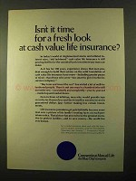 1970 Connecticut Mutual Life Ad - Fresh Look at Cash