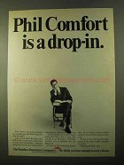 1970 Travelers Insurance Ad - Phil Comfort is Drop-in