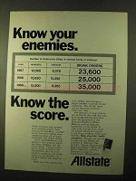 1970 Allstate Insurance Ad - Know Your Enemies