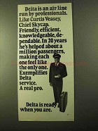 1970 Delta Airlines Ad - Professionals Curtis Veasey