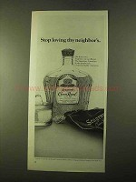 1970 Seagram's Crown Royal Ad - Loving Thy Neighbor's