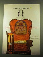 1970 Seagram's Crown Royal Ad - How Other Half Lives