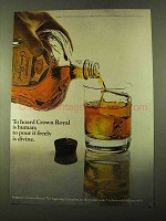 1970 Seagram's Crown Royal Ad - To Hoard Is Human