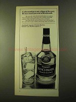 1970 Seagram's Benchmark Bourbon Ad - Not Thing of Past