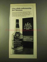 1970 Seagram's Benchmark Bourbon Ad - For Christmas