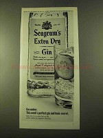 1970 Seagram's Extra Dry Gin Ad - Cucumber Secret