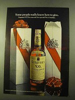 1970 Seagram's V.O. Canadian Whisky Ad - How To Give
