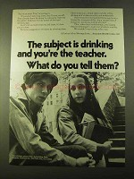 1970 Seagram's Distillers Ad - Subject is Drinking