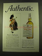 1970 Dewar's White Label Scotch Ad - NICE!