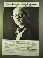 1970 Metropolitan Life Insurance Ad - Mother Rubella