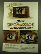 1970 Zenith TV Ad - Palma, Boyden, The Eddington