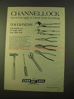1970 Channellock Hand Tools Ad - Gives You More
