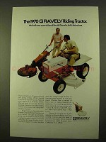 1970 Gravely Riding Tractor Ad - We'd Sell Even More
