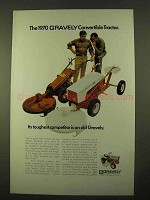 1970 Gravely Convertible Tractor Ad - Its Competitor