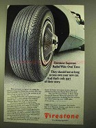 1970 Firestone Supreme Radial Wide Oval Tires Ad