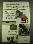 1970 Newfoundland and Labrador Canada Ad - Wild Living