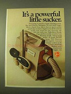 1970 Hoover Swingette Vacuum Cleaner Ad - Little Sucker