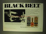 1970 Black Belt After Shave and Cologne Ad