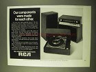 1970 RCA VS 5000 Stereo System Ad - Components Made