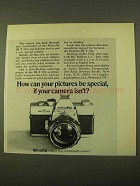 1970 Minolta SR-T 101 Camera Ad - Pictures Be Special