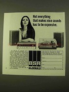 1970 BSR RTS-40 Stereo Ad - Makes Nice Sounds