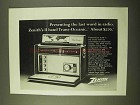 1970 Zenith Model Royal 7000Y Trans-Oceanic Radio Ad