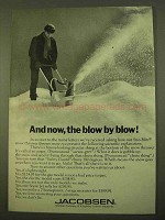 1970 Jacobsen Sno-Blitz Snow Thrower Ad - Blow by Blow