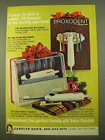 1970 Squibb Broxodent Toothbrush Ad - Christmas