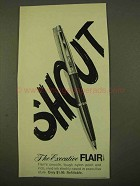 1970 Executive Flair Pen Ad - Shout