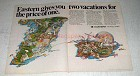 1970 Eastern Airlines Ad - Two Vacations for Price One