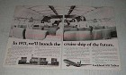 1970 Lockheed 1011 TriStar Jet Ad - Cruise Ship Future