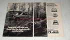 1970 Jeep Wagoneer Ad - Guts Will Take You Deep Into