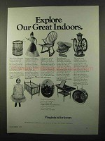 1971 Virginia Tourism Ad - Explore Our Great Indoors
