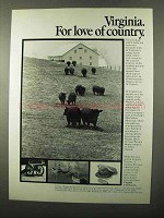 1971 Virginia Tourism Ad - For Love of Country