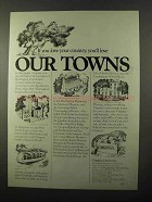 1971 Virginia Tourism Ad - You'll Love Our Towns