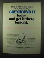1971 Greyhound Package Express Ad - In a Big Hurry?