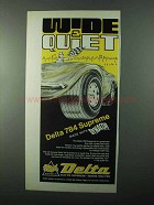 1971 Delta 784 Supreme Tire Ad - Wide & Quiet