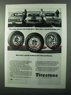 1971 Firestone Sports 500, Wide Oval 70 & 60 Tires Ad