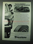 1971 Firestone Sup-R-Belt Tires Ad - Drove 15,000 Miles