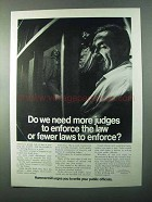1971 Hammermill Bond Paper Ad - More Judges to Enforce